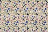 Japanese Fabric Winter Berries - blue, lilac - 50cm