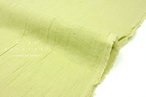 Japanese Fabric Muji Sara double gauze - light green - 50cm