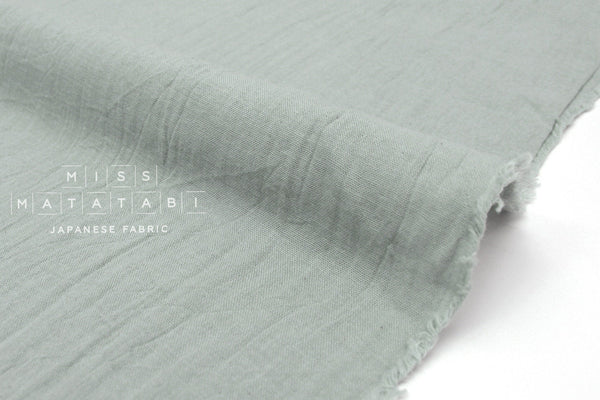 Japanese Fabric Muji Sara double gauze - light grey - 50cm