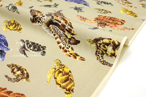 Japanese Fabric Marine Turtles - A - 50cm