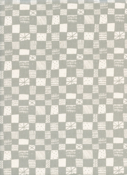 Cotton + Steel Print Shop - grid grey - 50cm