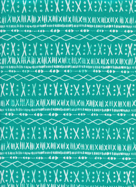 Cotton + Steel Print Shop - stitch turquoise - 50cm