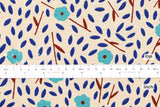 Japanese Fabric Floating Floral - blue - 50cm