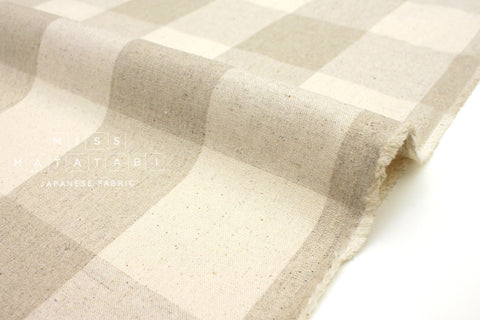 Japanese Fabric Woven Plaid - natural - 50cm