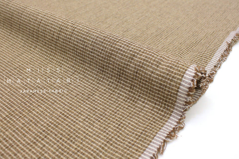 Japanese Fabric Yarn Dyed Mini Check - sandstone - 50cm