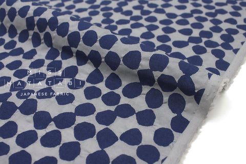 Japanese Fabric Gems Enshuku lawn - navy, grey - 50cm