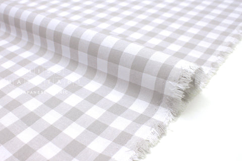 Cotton + Steel Checkers - grey 1/2 inch gingham - 50cm