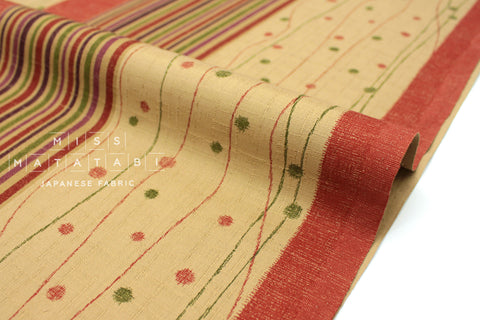 Japanese Fabric Yoroke Path Dobby - burnt orange - 50cm