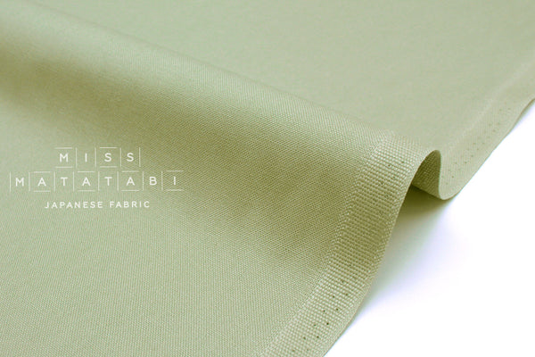 Japanese Fabric Kokochi Solid Canvas - sage green -  50cm