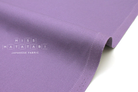 Japanese Fabric Kokochi Solid Canvas - lilac -  50cm