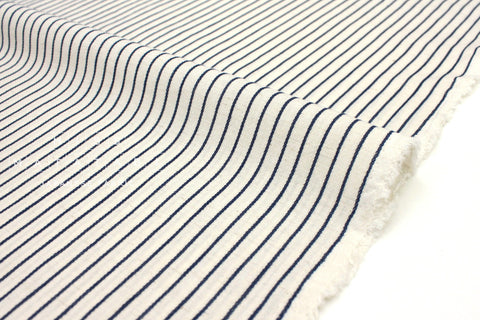 Japanese Fabric Yarn Dyed Stripes - indigo blue - 50cm