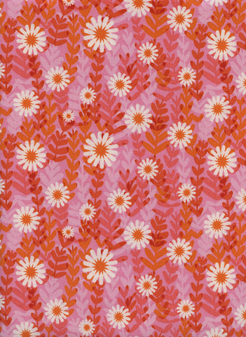 Cotton + Steel Freshly Picked - daisies - pink - 50cm