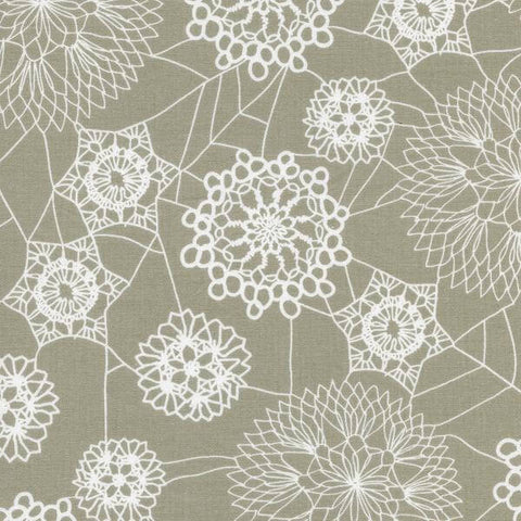 Cotton + Steel Spellbound - doily web grey - 50cm