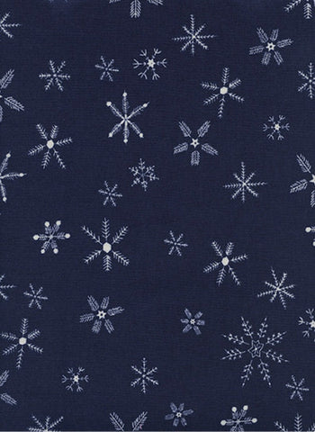 Cotton + Steel Frost - flurry navy blue - 50cm