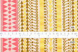 Japanese Fabric Kokka Fabric Caravan by Yurtao - tree trunk - metallic gold, neon pink - 50cm