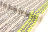 Japanese Fabric Kokka Fabric Caravan by Yurtao - tree trunk - metallic silver, neon - 50cm