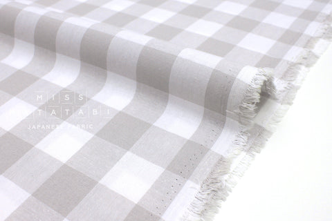 Cotton + Steel Checkers - grey 1 inch gingham - 50cm