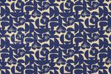 Japanese Fabric Geo Floral - blue - 50cm