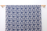 Japanese Fabric Polar bears double gauze - blue - 50cm