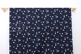 Japanese Fabric Fish dobby - blue, grey, red - 50cm