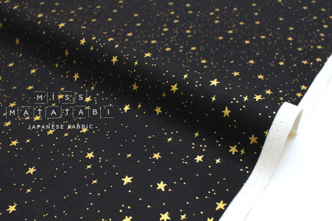 Cotton + Steel Primavera - stars black metallic gold - 50cm