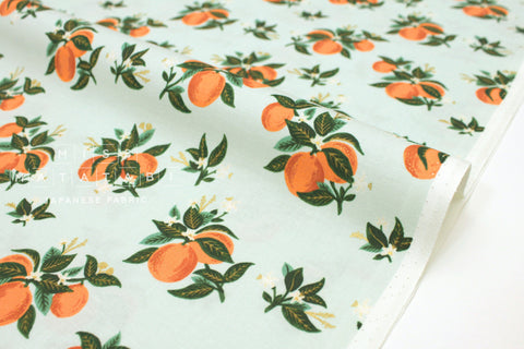 Cotton + Steel Primavera - citrus blossom orange metallic gold - 50cm