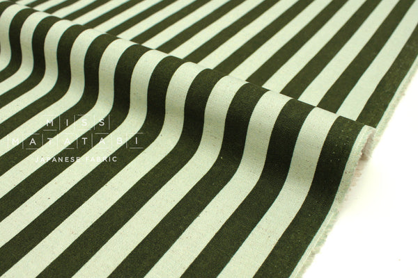Cotton + Steel Primavera canvas - cabana stripe mint - fat quarter