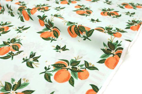 Cotton + Steel Primavera rayon - citrus blossom orange - 50cm