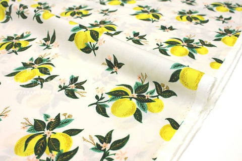 Cotton + Steel Primavera rayon - citrus blossom lemon - 50cm