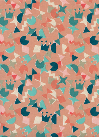 WILDLIFE Cotton + Steel Paper Cuts - shape up peachy - 50cm