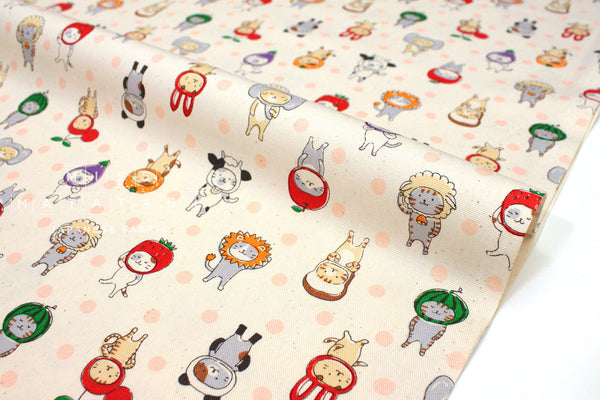 Japanese Fabric Kokka Dress Up I - cream - 50cm