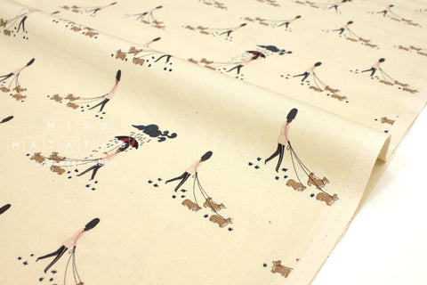 Japanese Fabric Cotton + Steel London Town - Reign, Reign, Go Away - unbleached - fat quarter