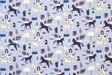 Japanese Fabric Cotton + Steel Mystical - Rainbow's End - periwinkle - fat quarter