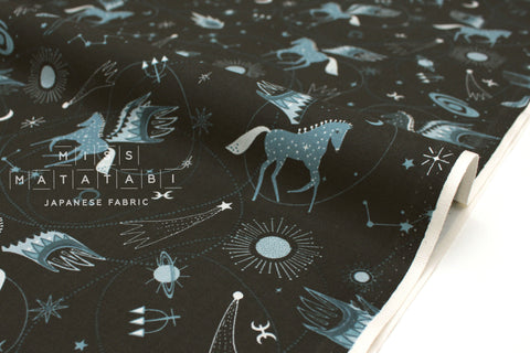 Japanese Fabric Cotton + Steel Mystical - Astro Pegasus - teal - 50cm
