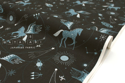 Japanese Fabric Cotton + Steel Mystical - Astro Pegasus - teal - fat quarter