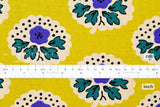 Japanese Fabric Flower Stamps - yellow, purple, green - 50cm
