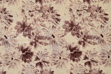 Japanese Fabric Linen Voile Wild Blooms - wine -  50cm