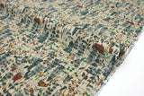 Japanese Fabric Forest Home cotton lawn - taupe, green, burnt orange - 50cm