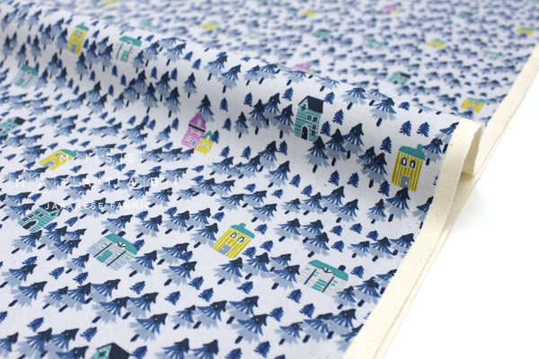 Japanese Fabric Cotton + Steel Chill Out - Nature Walk - stone - 50cm