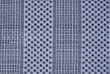 Japanese Fabric Embroidered Eyelet Border - blue - 50cm