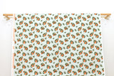 Cotton + Steel Primavera - citrus blossom orange metallic gold - fat quarter