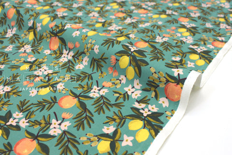 Cotton + Steel Primavera - citrus floral teal - fat quarter