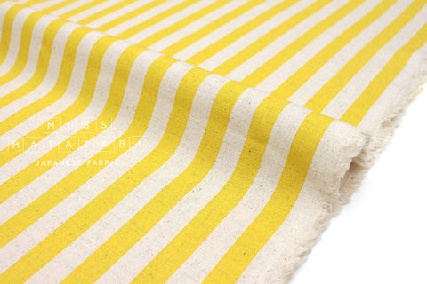Cotton + Steel Primavera canvas - cabana stripe yellow - fat quarter