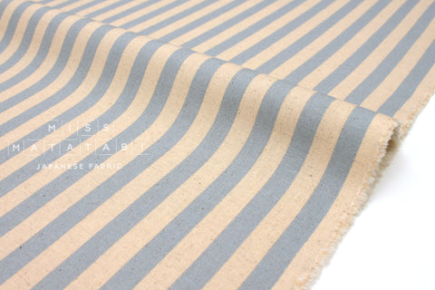 Cotton + Steel Primavera canvas - cabana stripe periwinkle - 50cm