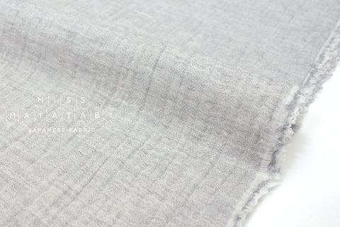 Japanese Fabric Kokka Double gauze - reversible solids grey -  50cm