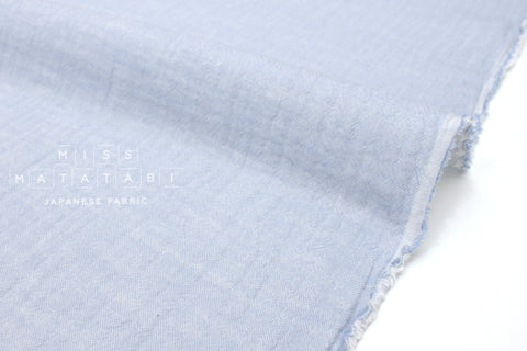 Japanese Fabric Kokka Double gauze - reversible solids blue -  50cm