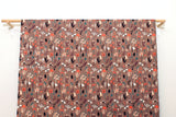 Japanese Fabric Bluebell - hazelnut, peach - 50cm