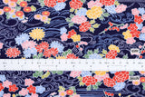 Japanese fabric Pine River - navy - 50cm