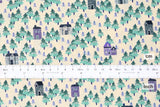 Japanese Fabric Cotton + Steel Chill Out - Nature Walk - aqua - fat quarter