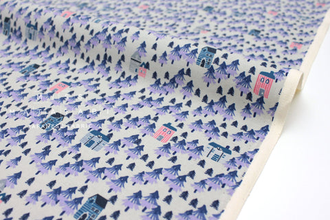 Japanese Fabric Cotton + Steel Chill Out - Nature Walk - purple - fat quarter